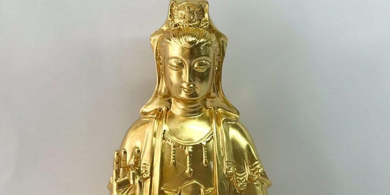 bồ tát quan thế âm bằng đồng mạ vàng