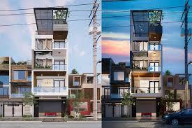 Thiết kế mẫu nhà phố 5 tầng đẹp kiến trúc xanh.